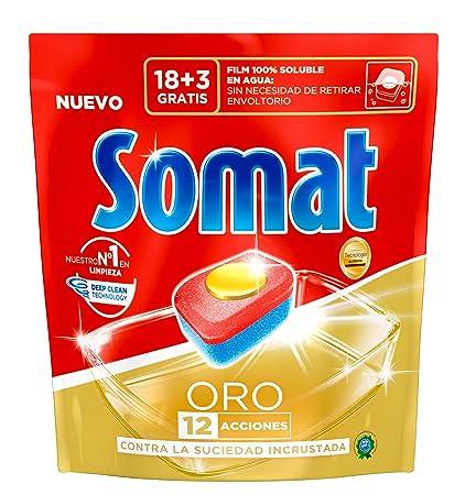 Somat Oro Detergente en Pastillas para Lavavajillas Máquina - 21 Pastillas