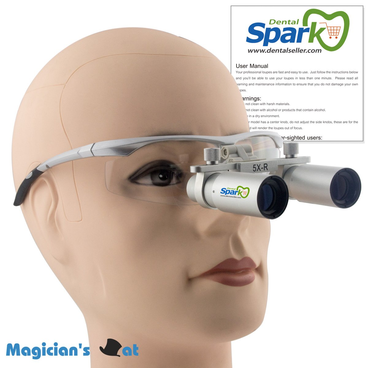 5.0X 420mm Working Distance Dental Surgical Medical Binocular Loupes with Ultra-light and High Brightness Optical Glasses