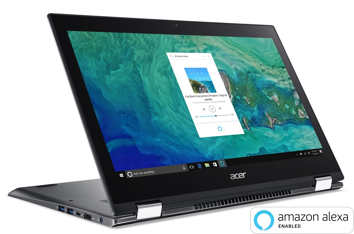 """Acer Spin 5 SP515-51GN-807G, 15.6"""" Full HD Touch, 8th Gen Intel Core  i7-8550U, GeForce GTX 1050, Amazon Alexa Enabled, 8GB DDR4, 1TB HDD,  Convertible, ..."""
