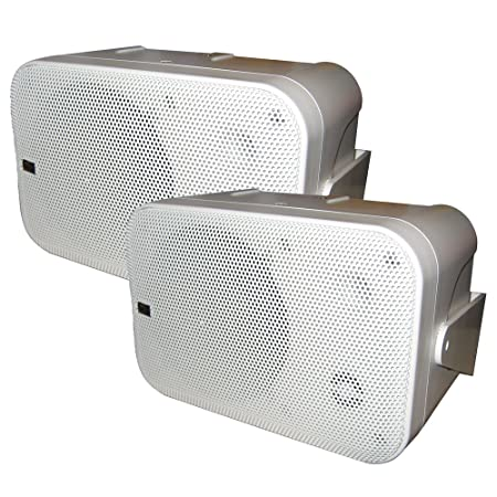 Poly-Planar B0 X 200W White Waterproof Full Size Box Speakers Pair