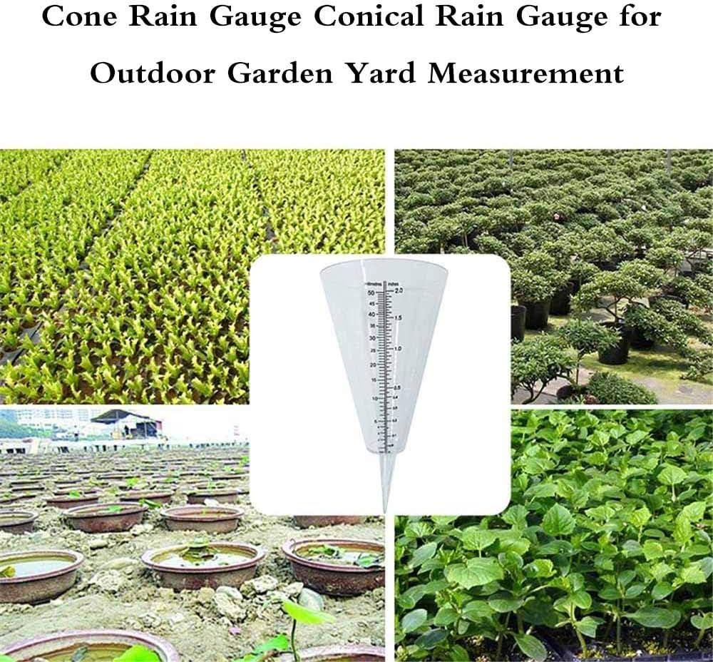 Kinberry Rain Gauge Garden Conical Rain Gauge for Outdoor Garden Yard Measurement