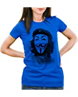 style3 Anonymous CHE Women's T-Shirt hacktivism net culture Guy Fawkes
