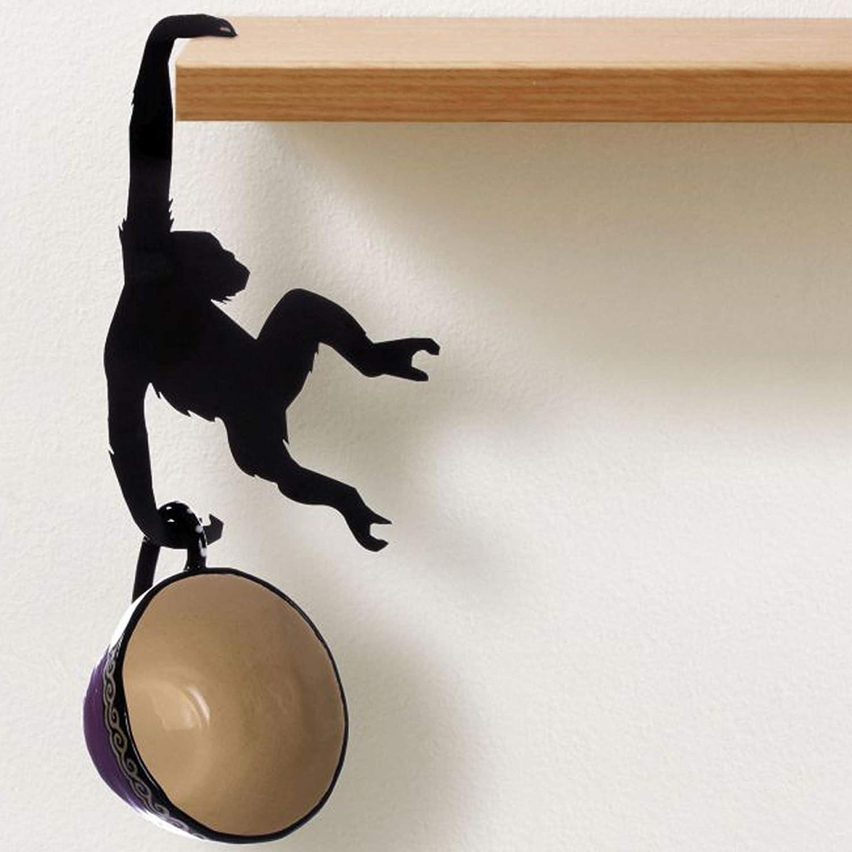 F/íjalo Artori Design Albert el chimpanc/é Colgador de Gancho Colgador met/álico para estantes