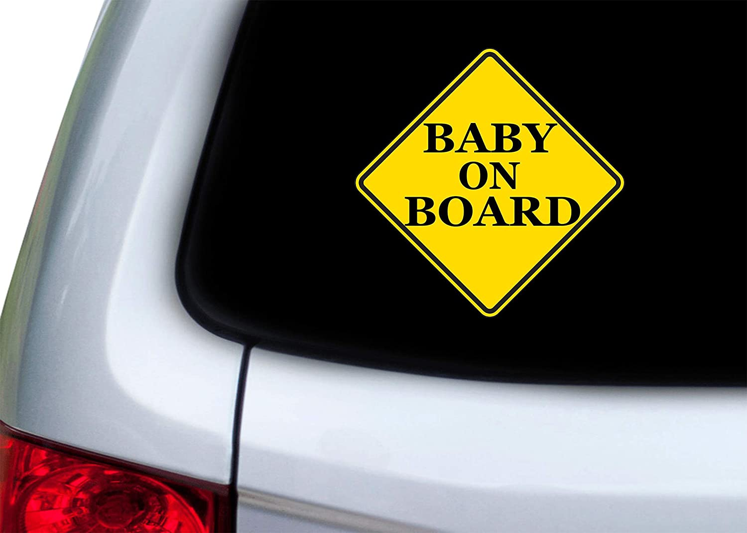 Rogue River Tactical Yellow Baby On Board Sticker Decal Bumper Vehicle Safety Sticker Sign for Car Truck SUV