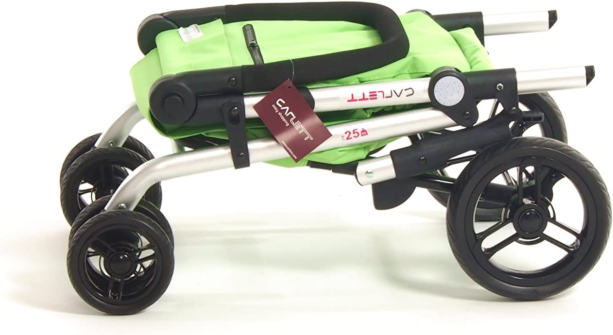 Carlett Lett201/Design pliable 2/roues chariot de courses avec poign/ée r/églable Jaune