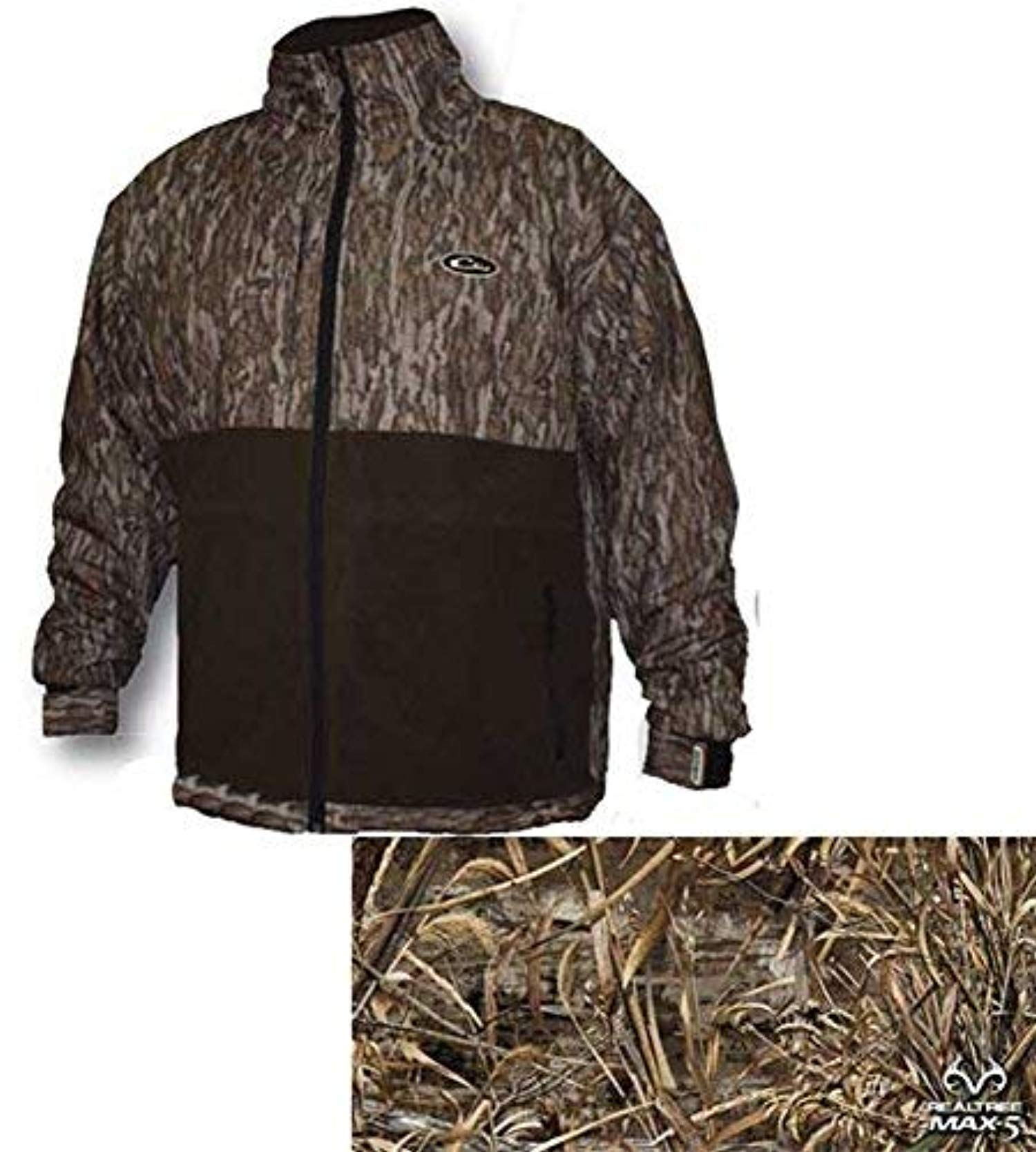 Drake Youth MST Eqwader Full Zip Mossy Oak DU Shadowgrass Blades 10 by Drake