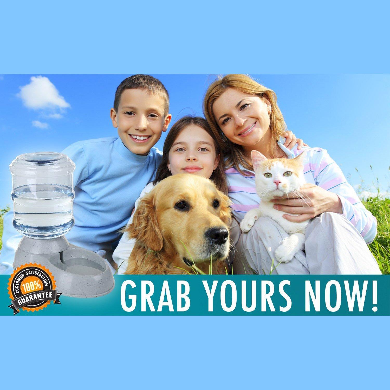REFURBISHHOUSE/3.5L Cuenco de comida de perro de plastico mascota automatica grande para gatos perros Alimentador de mascota