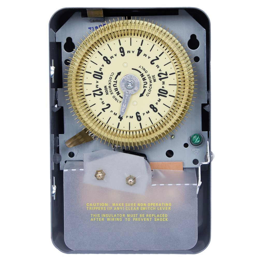 Intermatic T1905HDR Heavy Duty Industrial Mechanical Time Switch, Outdoor Enclosure, 120VAC, 60Hz