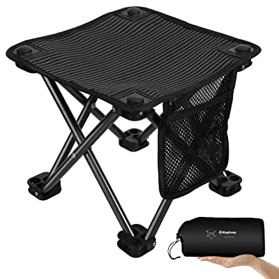 KingCamp Mini Folding Camping Stool Small Protable Backpacking Slacker Chair with Carry Bag : Sports & Outdoors