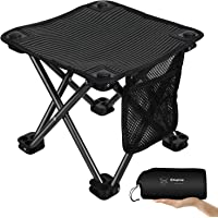 KingCamp Mini Folding Camping Stool Small Protable Backpacking Slacker Chair with Carry Bag