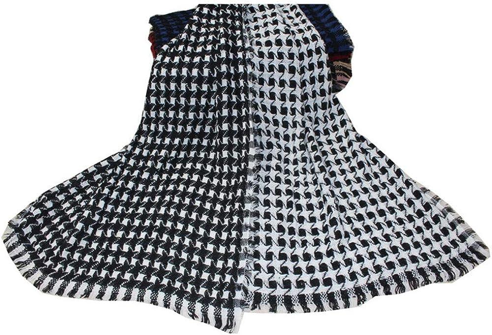 AiNaMei Hombres y mujeres primavera y otoño e invierno bufanda de cachemira de imitación bufanda caliente