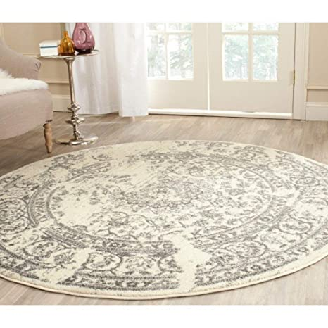 Amazon com: DD 4' Off White Vine Floral Pattern Area Rug, Features