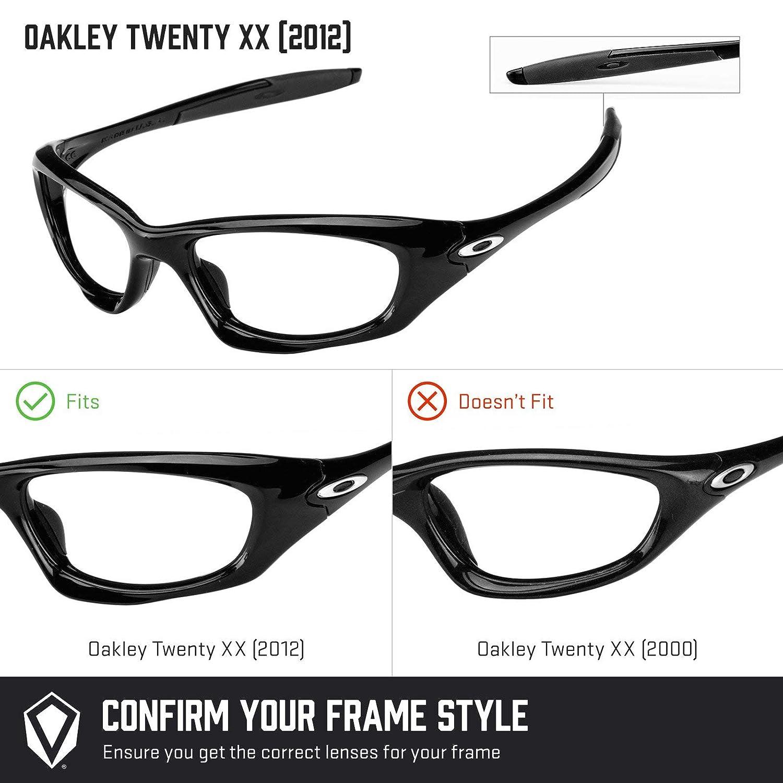 2cf25d56ae1 Revant Polarized Replacement Lenses for Oakley Twenty XX (2012) Black  Chrome MirrorShield at Amazon Men s Clothing store