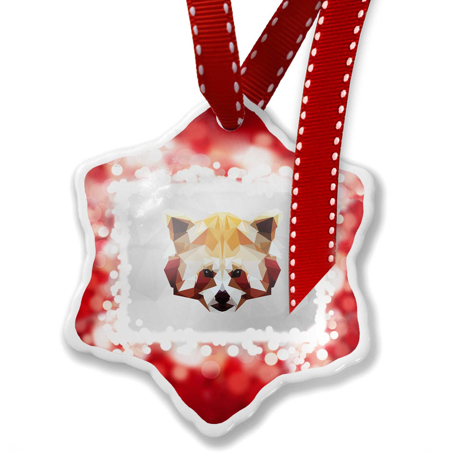 Christmas Ornament Low Poly zoo Animals Red Panda, red - Neonblond