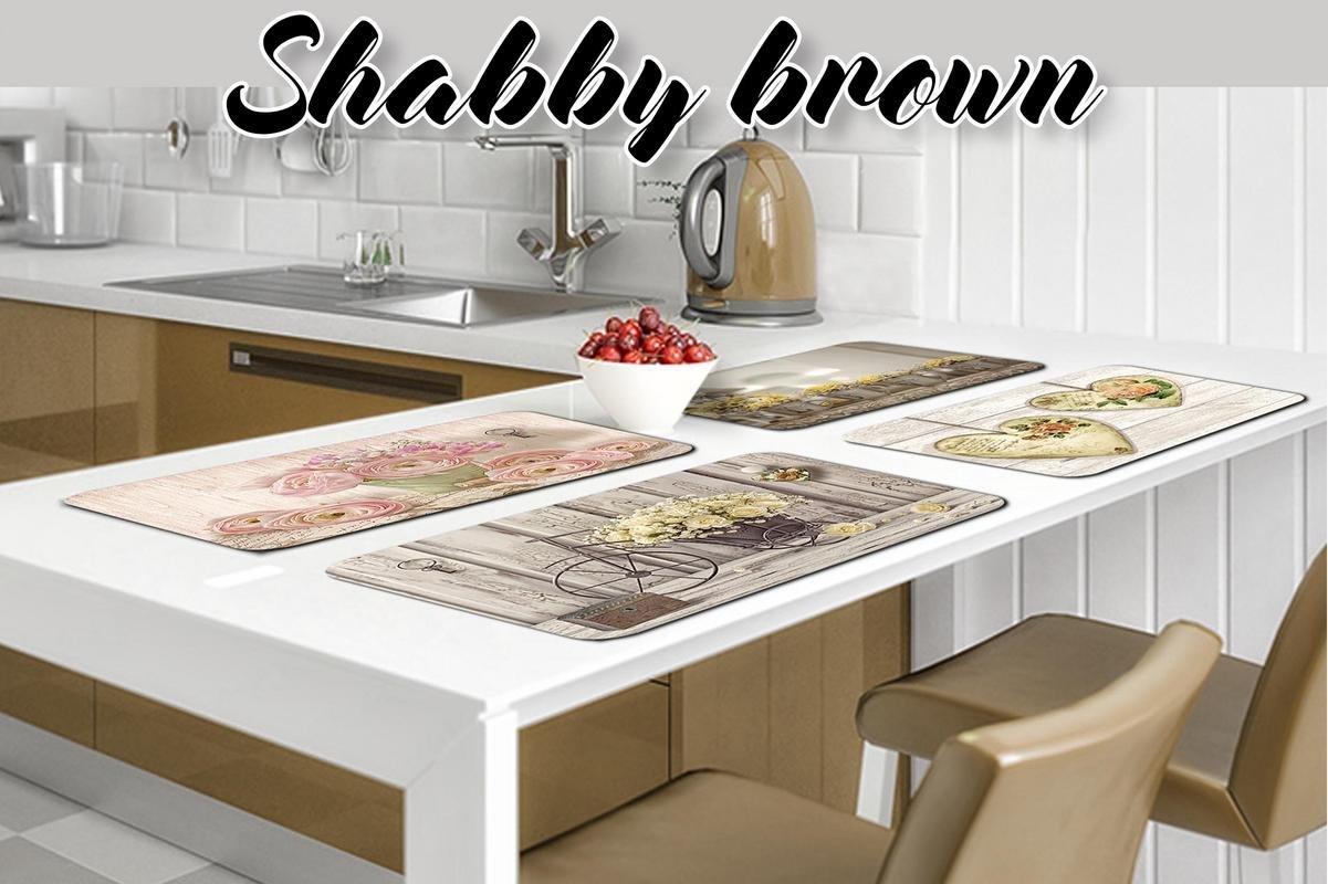 Set 4 pezzi tovagliette americane 31x45 cm Shabby Brown