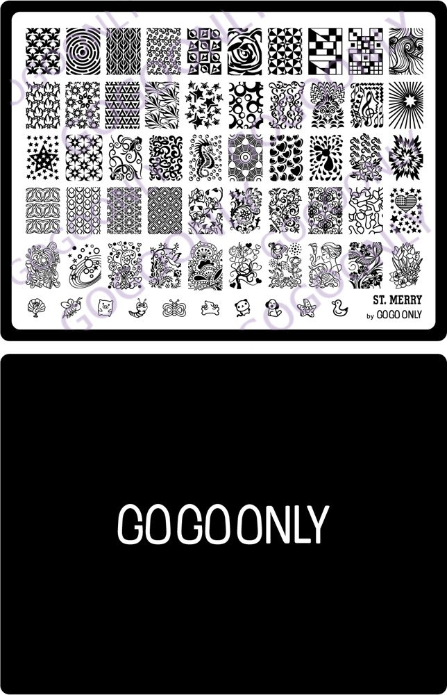 Amazon.com : Gogoonly Nail Art Stamp Plate Collection St. Merry ...