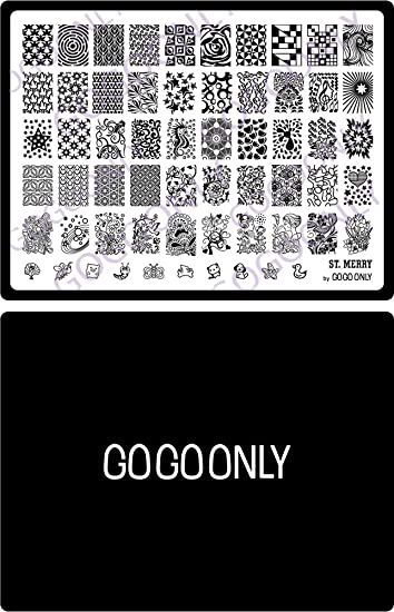 Amazon Gogoonly Nail Art Stamp Plate Collection St Merry