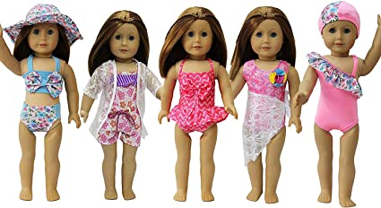 One-piece Lacing Swimwear Swimsuit Suit for 18/'/' AG American Doll My Life Doll