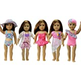 10pcs Summer Swimwear Clothes for 18 Inch American Girl Doll
