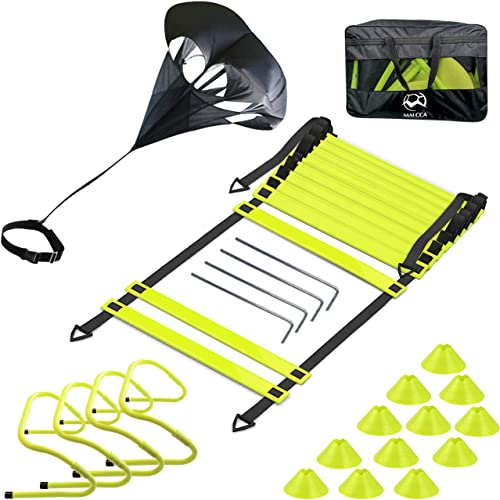 Speed Agility Training Exercise Workout Football Agility Ladder Kit [Eazy2hd] Picture