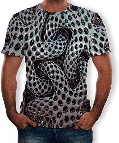 Camisetas Basicas Hombre Camisetas de Manga Corta Impresa 3D para Hombre Camisetas de Manga Corta Estampada para Hombre Estrella de mar Camisetas Hombre Originales Camiseta Casual de los Hombres: Amazon.es: Ropa y