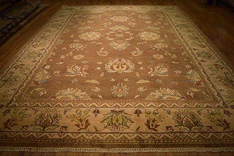 Amazon Com Brown Wool Carpet 10x14 Indian New Soft Agra Hand