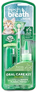 Fresh Breath by TropiClean Oral Care Kit for Cats, 2oz