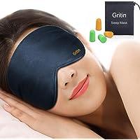 Gritin Antifaz para Dormir, 100% Anti-Luz Opaco Cómoda