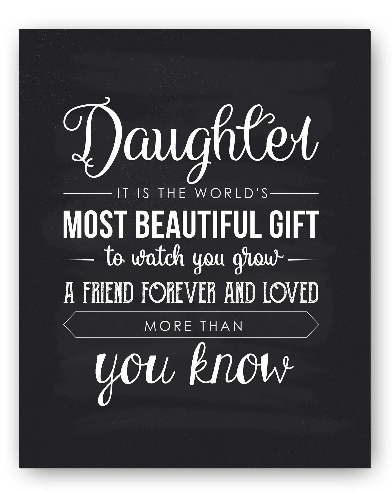 Mom Quotes From Daughter: Amazon.com: Daughter Gift, Daughter Quote Sign, Unique