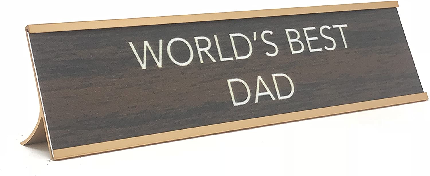 aahs!! Engraving World's Best Funny Desk Plates | Humorous Signs for Office Mother's & Father's Day | Novelty Gifts Dad