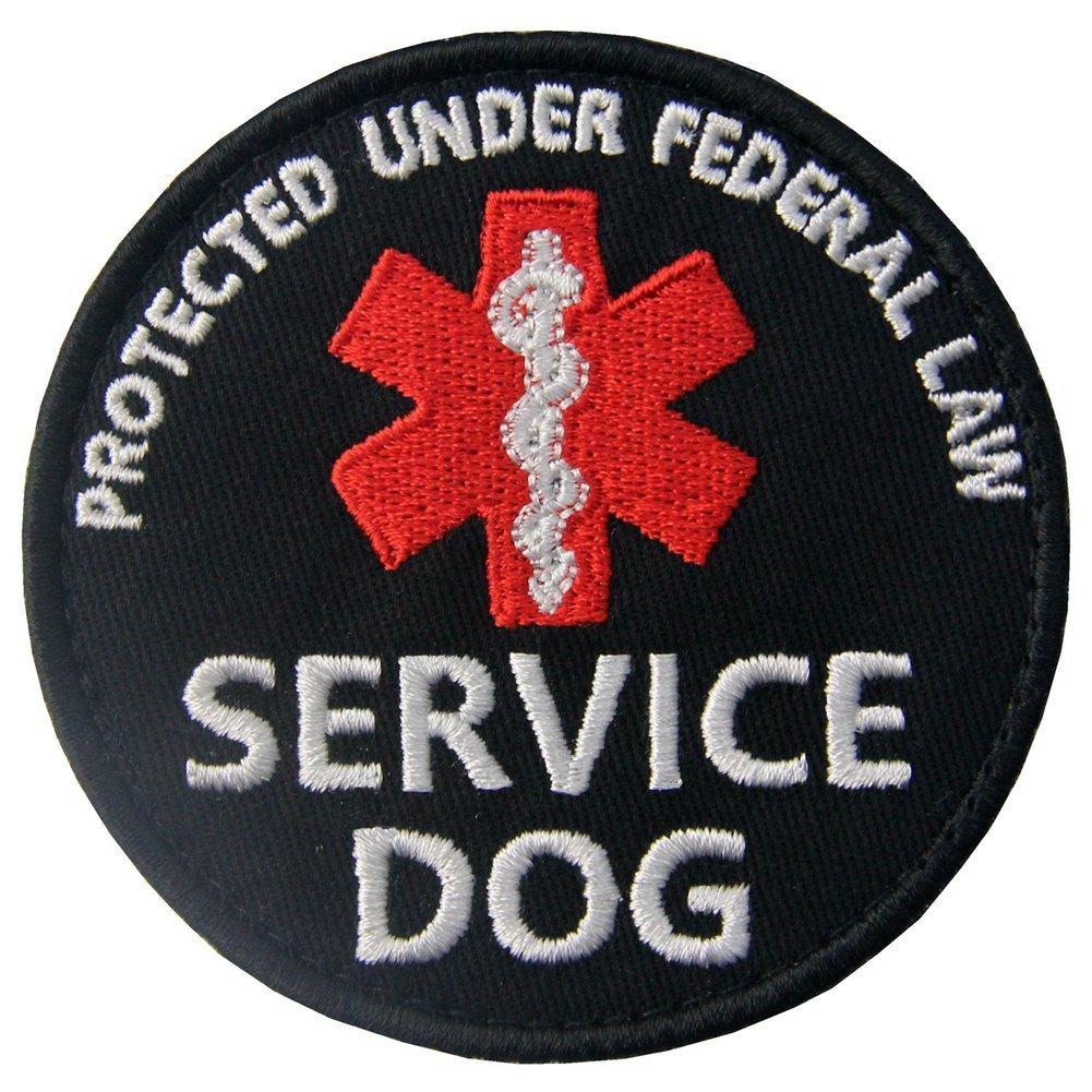 Service Dog ESA Emotional Support Medic Paramedic Star of Life EMS Vests/Harnesses Emblem Embroidered Fastener Hook & Loop Patch EmbTao