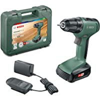 Bosch Cordless Drill Driver UniversalDrill 18 (1 Battery, 18 Volt System, 1.5 Ah, in Case), green