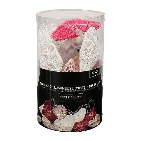 LUM&CO Guirnalda Decorativa Luces, Rosa y Blanco, 7,5 x 7 cm, 10 Unidades