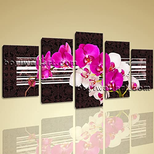 Amazon.com: Huge Unique Orchid Flower Canvas Art Print Modern ...