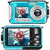 Waterproof Digital Camera Underwater Camera Full HD 2.7K 48 MP Video Recorder Selfie Dual Screens 16X Digital Zoom Flashlight