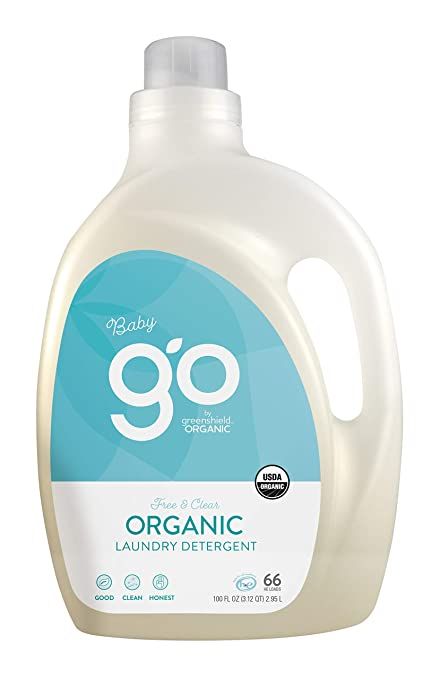 GO by GreenShield Organic, 100 oz. Baby Laundry Detergent- Free & Clear