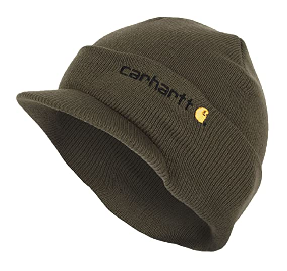 Carhartt Winter Hat with Visor - Green CHA164ARG Mens Beanie with peak Hat  CHA164ARG-Universal 4d3c1c32362c