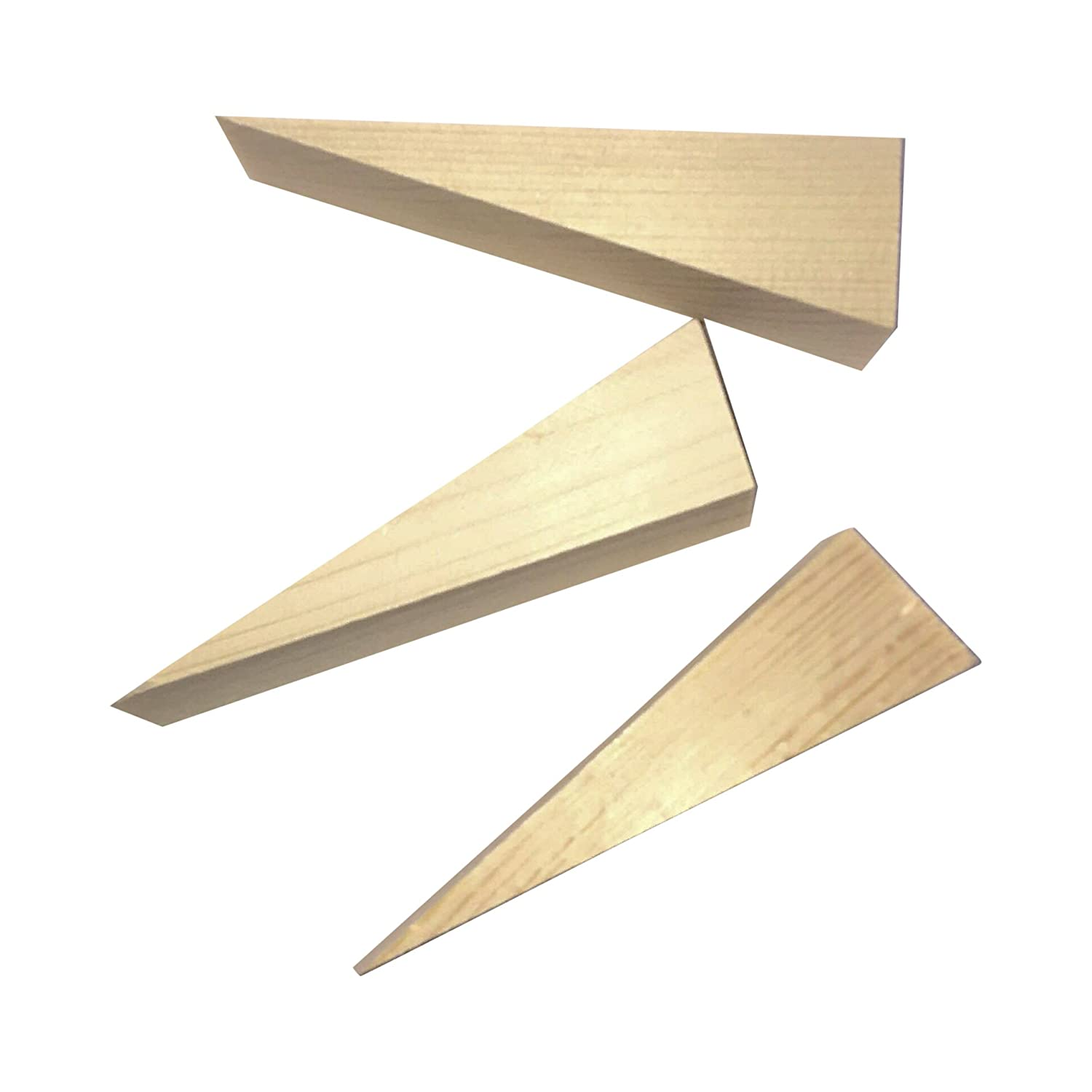 Wooden Non Slip Door Stop Stopper Wedge 3 Pack of Stoppers Hand Made for All Surfaces Home & Office Woodgrain Dudeck's Distributing
