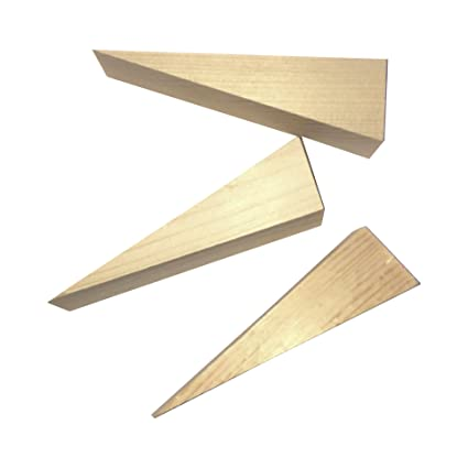 Wooden Non Slip Door Stop Stopper Wedge 3 Pack Of Stoppers Hand Made For  All Surfaces
