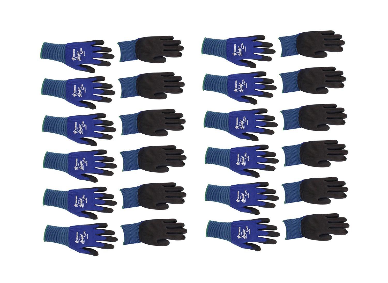 Memphis N9696 Blue Ninja Lite Gloves, 18 Gauge, Size Medium, (12 Pair)