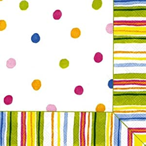 Ideal Home Range 20-Count 3-Ply Paper Cocktail Napkins, Smart Dots