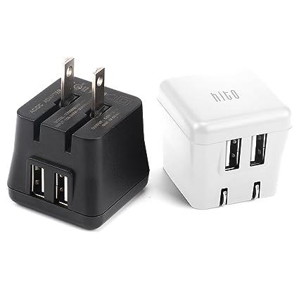 Amazon.com: Hito - Paquete de 2 cargadores de pared USB ...