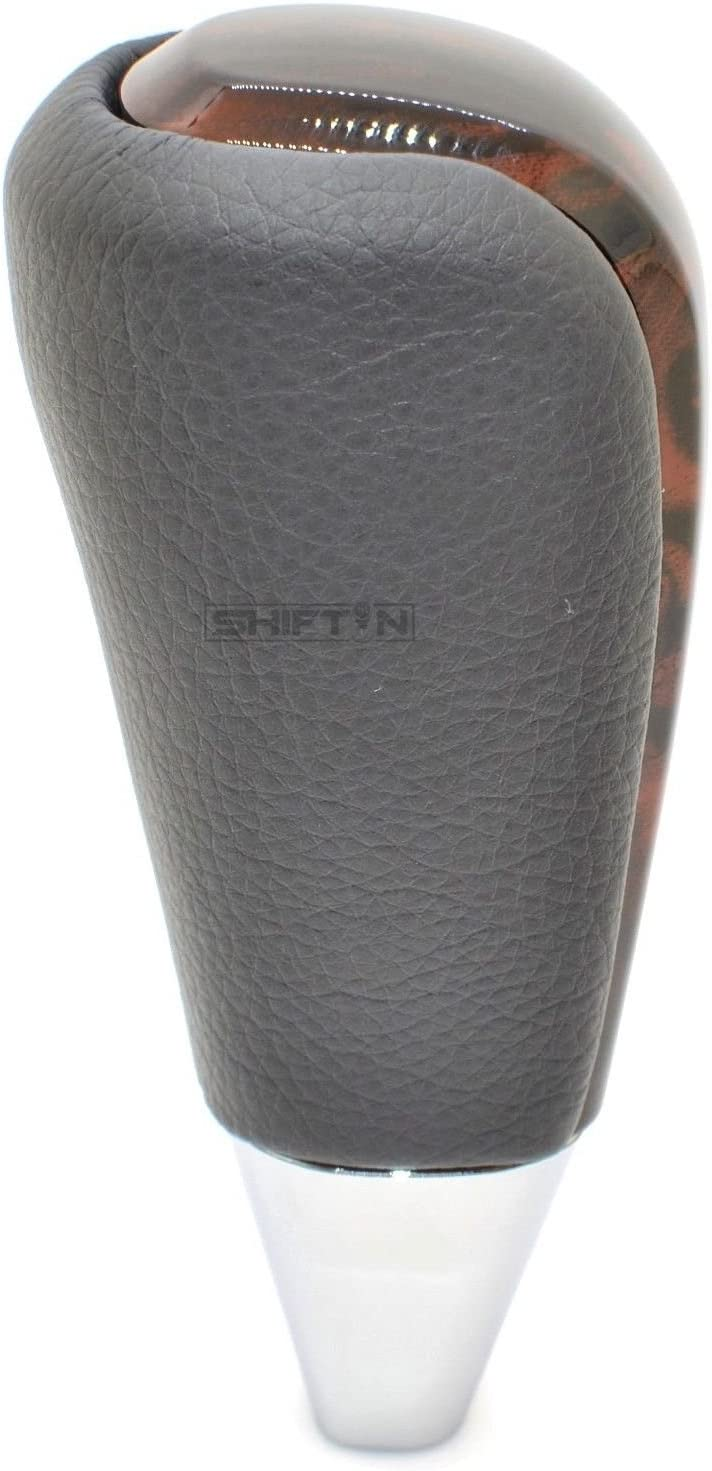 Gray Leather//Dark Brown SHIFTIN Leather and Wood Gear Shift Knob for Toyota Land Cruiser 4Runner Sequoia Tundra and Lexus