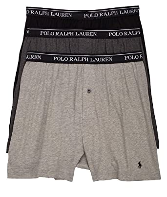Polo Ralph Lauren Classic Cotton Knit Boxer 3-Pack, S, Assorted Grey