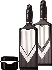 Microplane Adjustable V-Blade Slicer with Julienne Feature Stainless steel / Black