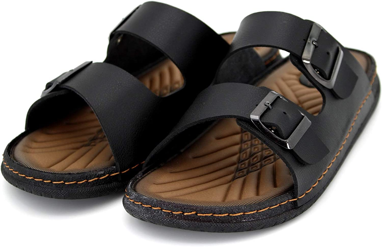 Gr 41-45 Slipper Schwarz Herren Pantolette GEZER® Sandale Neu