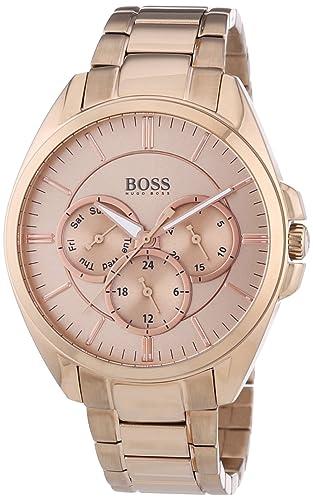 Hugo Boss 0 - Reloj de cuarzo para mujer, con correa de acero inoxidable, color dorado: Amazon.es: Relojes
