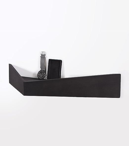 PELICAN. Estantería y perchero de pared elegante, sencillo y muy funcional. Balda original de forma triangular con almacenamiento y ganchos ocultos. ...