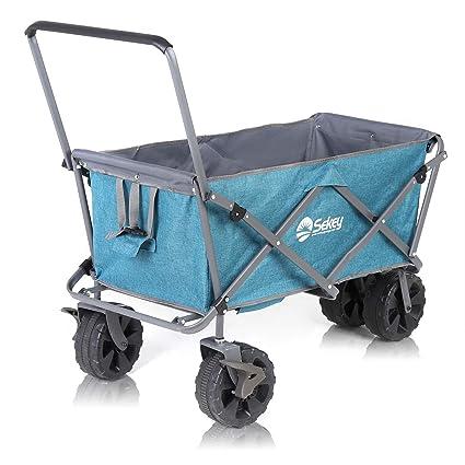 Amazon.com: Sekey Wagon plegable para playa con frenos ...