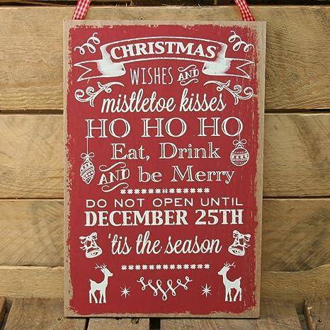 Frasi In Inglese Di Natale.Frasi Di Natale In Legno Da Appendere Scritta In Inglese